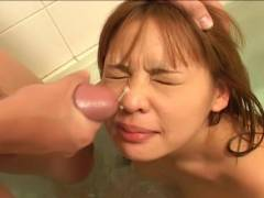 Small bonker Asian hairy pussy felt out!