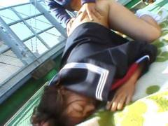 Chubby Misa Kashigawi pounded outdoors