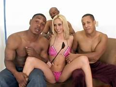 Blonde Kelly Interracial Gang Screw