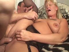 Blonde MILF Takes Wang Humping