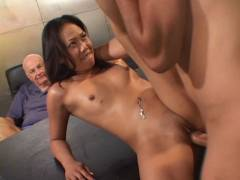 Sexy Asian Wife Joy stick Plugged