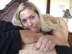 Blonde Housewife Dong Gagged