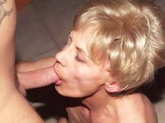 Mature Babe Slurps Peter