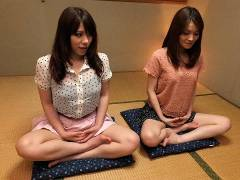 Anna Kirishima and Kana Suzuki screwed at yoga