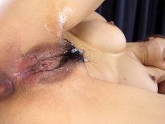 Mecumi gets cum on  pubic hair after hardcore