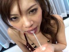 Sexy Japanese slut gets pounded by 2 horny men